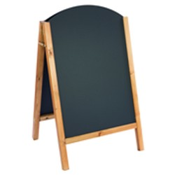 Reversible Curved Top Oak Blackboard - 800mm x 515mm