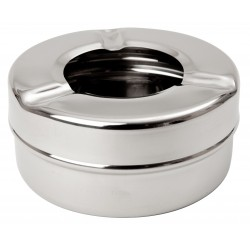 "Stainless Steel Windproof Ashtray 3 1/2"" x 24"