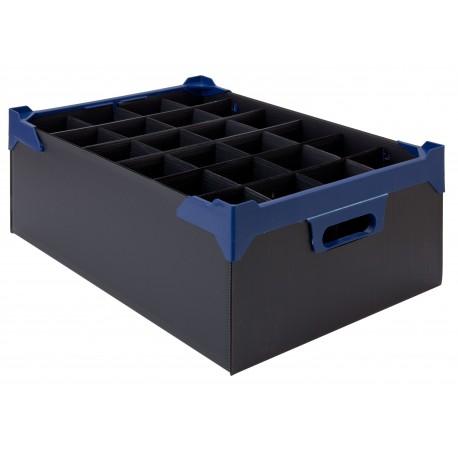 Glassware Storage Box L500 xW345 x H165mm x 5 Pk