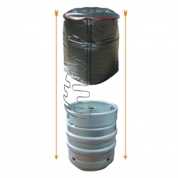 9 - 11 Gallon Vertical Cask Cooler with Plain Ends