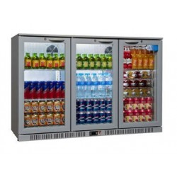 Coolpoint HX300 Triple Hinged Door Grey Bottle Cooler