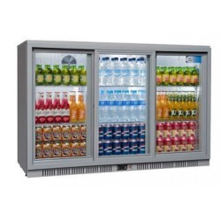 Coolpoint HX350 Triple Sliding Door Grey Bottle Cooler