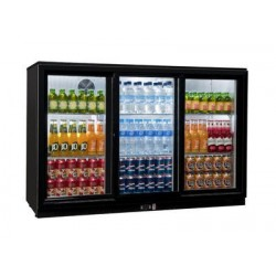 Coolpoint HX351 Triple Sliding Door Black Bottle Cooler