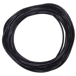 30 Metre Roll Black Silicone Tube 6 mm ID / 2 mm Wall