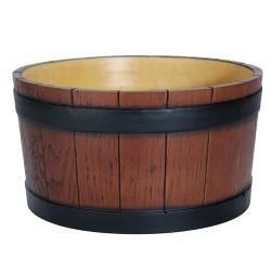 Barrel End Ice Tub Wood Grain - 11 litre / 19 pt