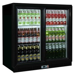Coolpoint HX251 Black Double Sliding Door Bottle Cooler