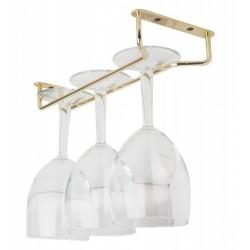 """Glass Hanger 10"""" Brass"""