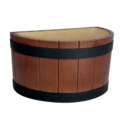 Half Round Barrel End Ice Tub Wood Grain - 7 litre / 12 pint