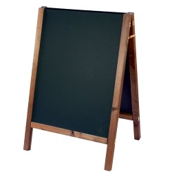 Reversible Square Top Oak Blackboard - 1100mm x 665mm