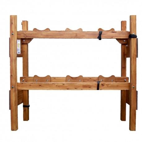 Wooden Rack - 3/3 Firkins - 9 Gallons