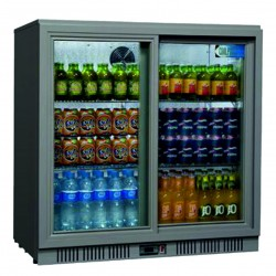 Coolpoint HX250 Grey Sliding Double Door Bottle Cooler